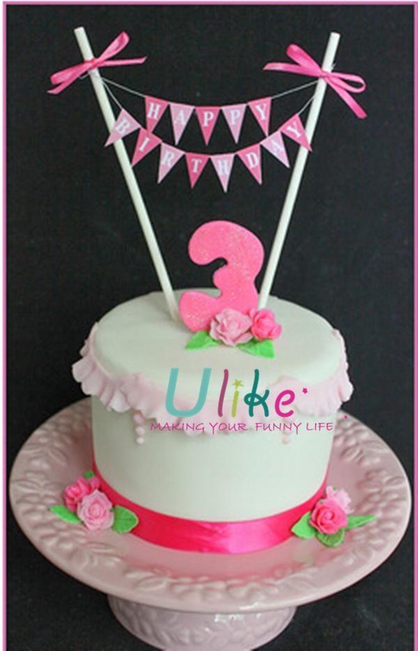 Hot Selling Custom Design Happy Birthday Cake Decorative Letter