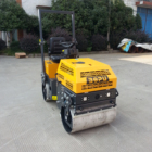 Ride-on type Double drum Vibratory Road Roller 1000kgs RZ750D with Water cooled diesel engine Kubota style
