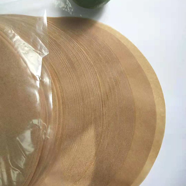 Unbleached greaseproof round parchment paper food wrapping paper