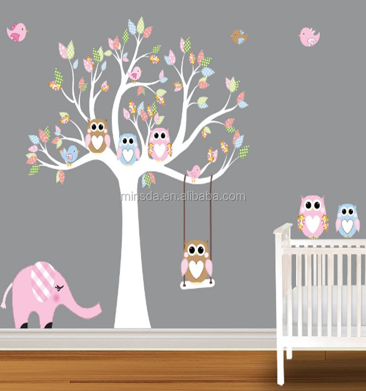 cute and fun modern baby wall stickers for nursery room kid printed