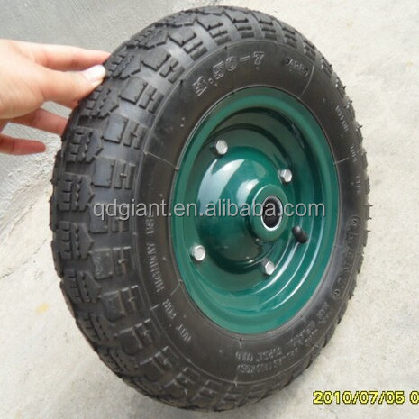 High quality pneumatic rubber wheel for hand trolley