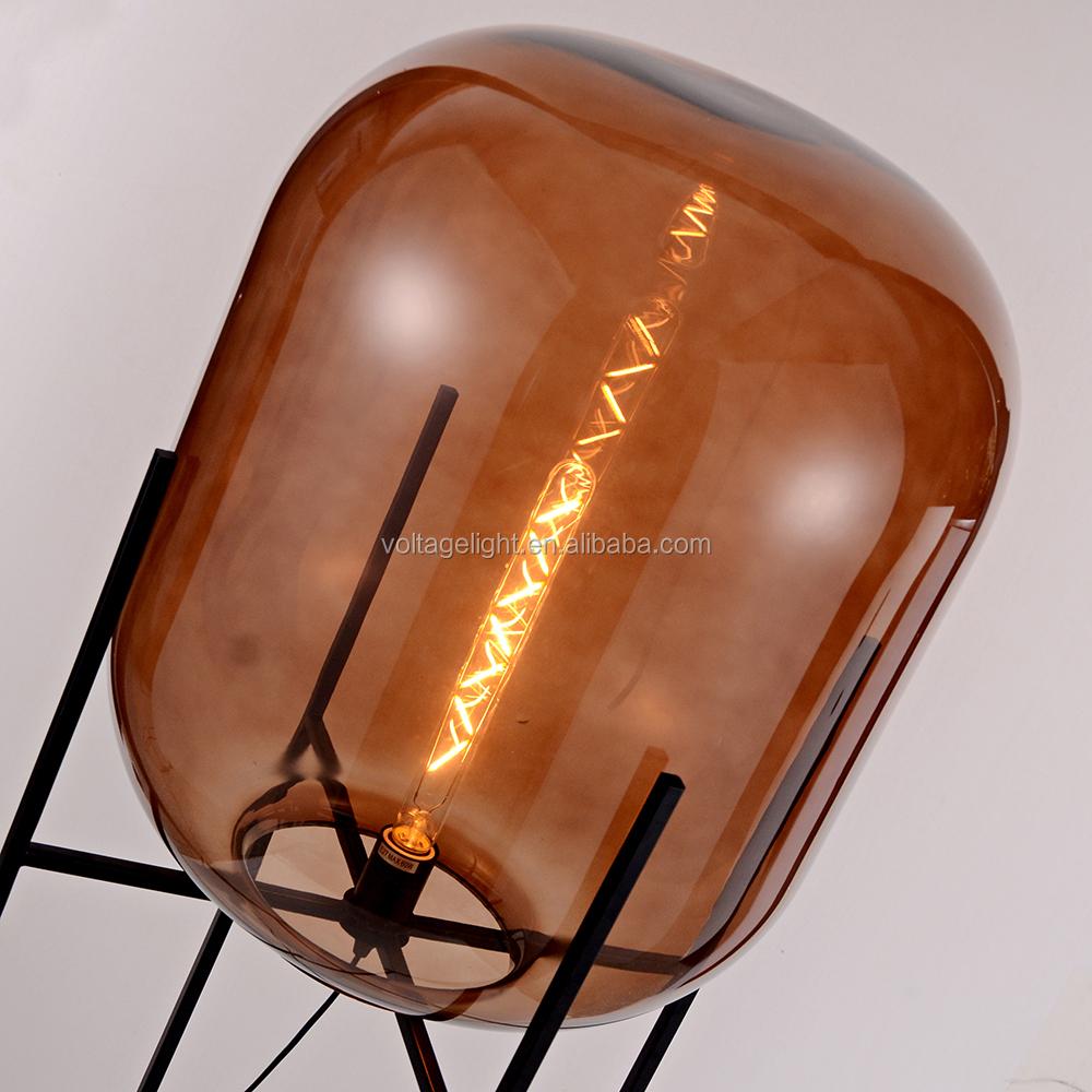 Decoratieve glas vloerlamp oda grote vloerstaande lamp unieke ...
