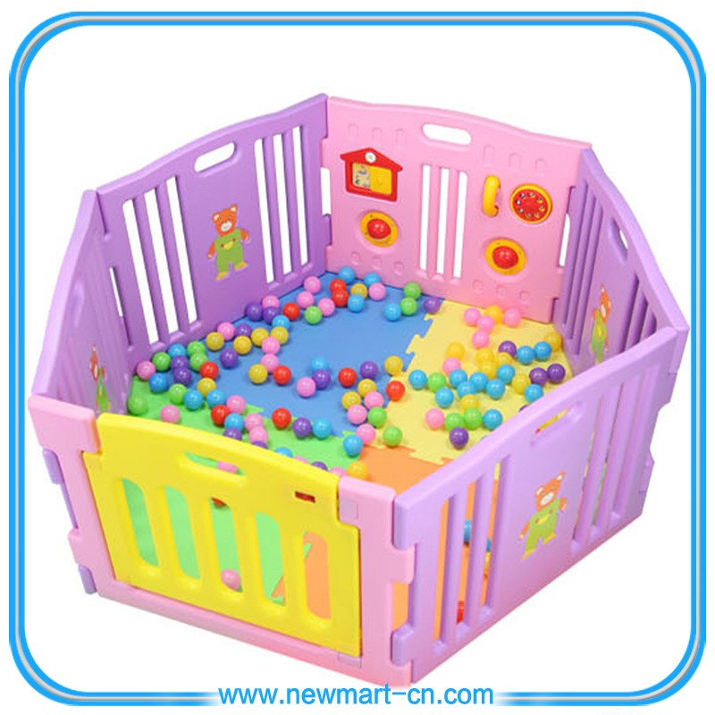 Safety Plastic Baby Playpen Baby Play Yard Baby Play Fence