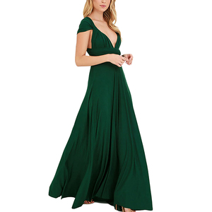 Wholesale fashion elegant green long women night party dress