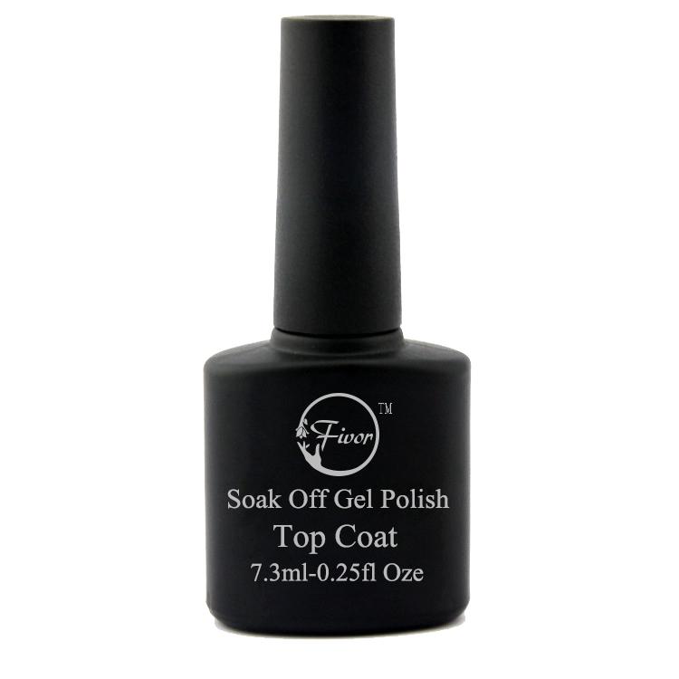 No Wipe Tempered Top Coat Soak Off Long Lasting Nail Art Gel Polish ...
