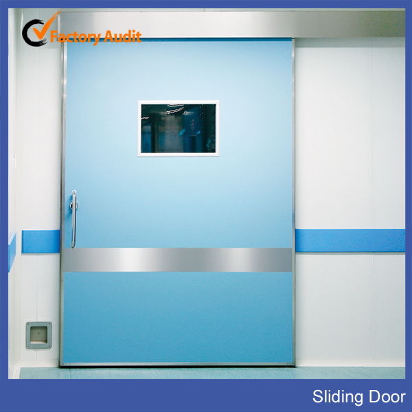 Electric Stainless Steel Air shower sliding door For Hospital Clean Room