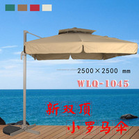 Acrylic patio umbrella square solid color garden umbrella