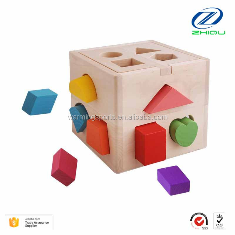 Wooden 13 hole intelligence box hole children's educational toys building puzzle toys