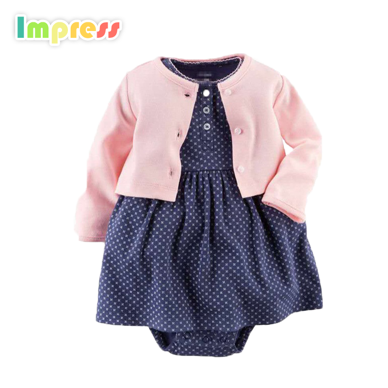 Wholesale baby clothes 100% cotton carters infant clothing set with dress