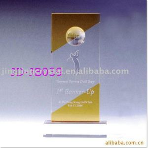 Hot sales popular crystal 3d laser engraving crystal glass trophy award medal