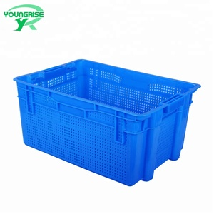 44L stack and nest vegetables storage plastic crates