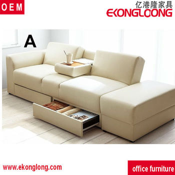 Pvc Leather Designs Sectional Recliner Sofa Bed For