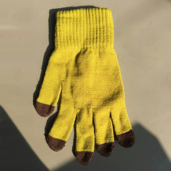 Custom winter glove pure wool gloves touch screen glove