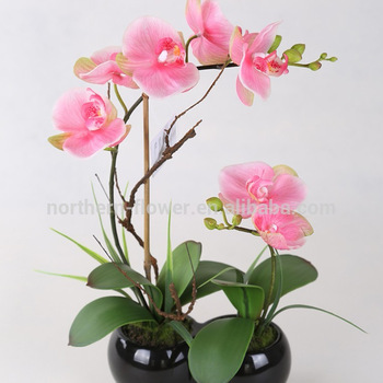 Kualitas Tinggi Handmade Buatan Anggrek  Bunga  Pengaturan