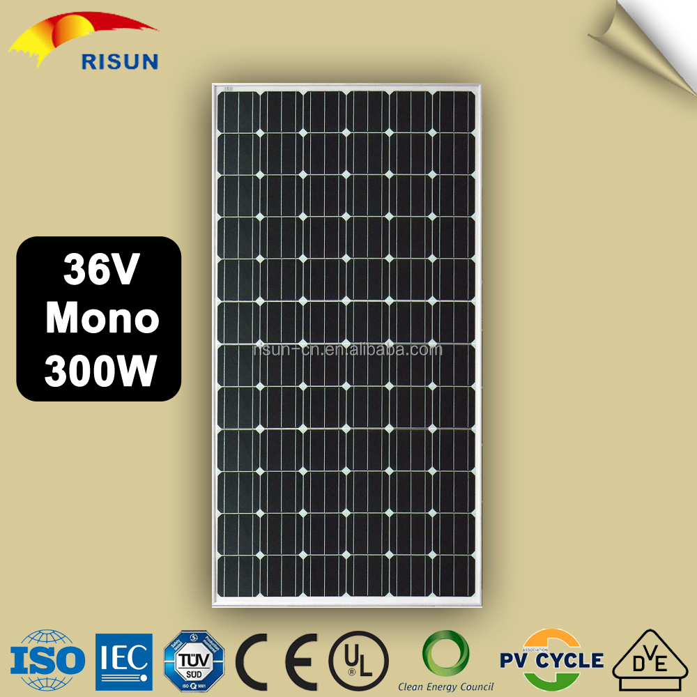 Best Price Per Watt Monocrystalline Silicon Solar Panel 300 W
