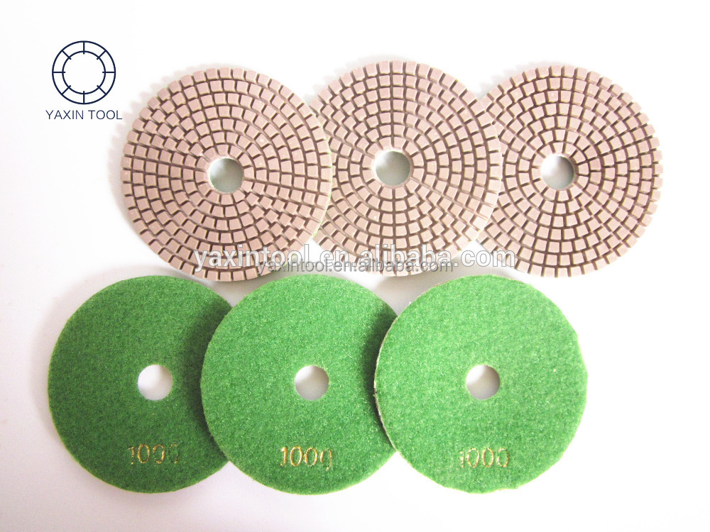 polishing pad for EZ change of HTC grinding head