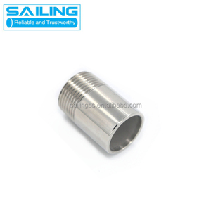 astm 300 series stainless steel tube fitting NPT male fitting thread nipple