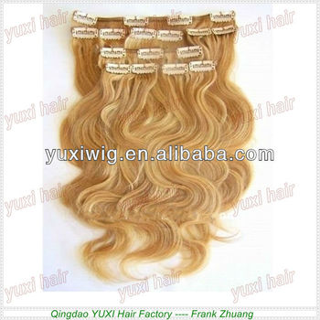 Luxury quality beautiful colors hair factory wholesale clip in hair expression