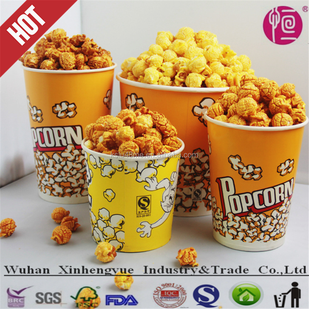 various sizes food grade disposable paper fried chicken buckets and cups