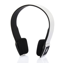 White color Wireless Bluetooth Earphone Outdoor Sport Gaming Hesdset with Microphone and DSP Noise Reduction V2.1 + EDR