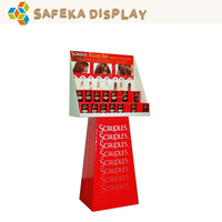 Advertising Corrugated POS Retail Stands Custom Printing Promotion Floating POP floor Cardboard display table for Hair dye