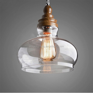 decorative man flown clear glass pendant light modern chandelier GB17C