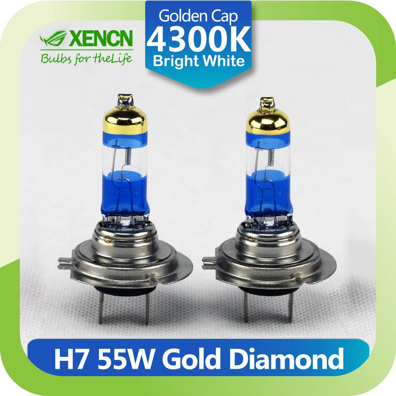 xencn h7 12 v 55 w 4300 k or diamant remplacement pour ampoules voiture phare auto lampe. Black Bedroom Furniture Sets. Home Design Ideas