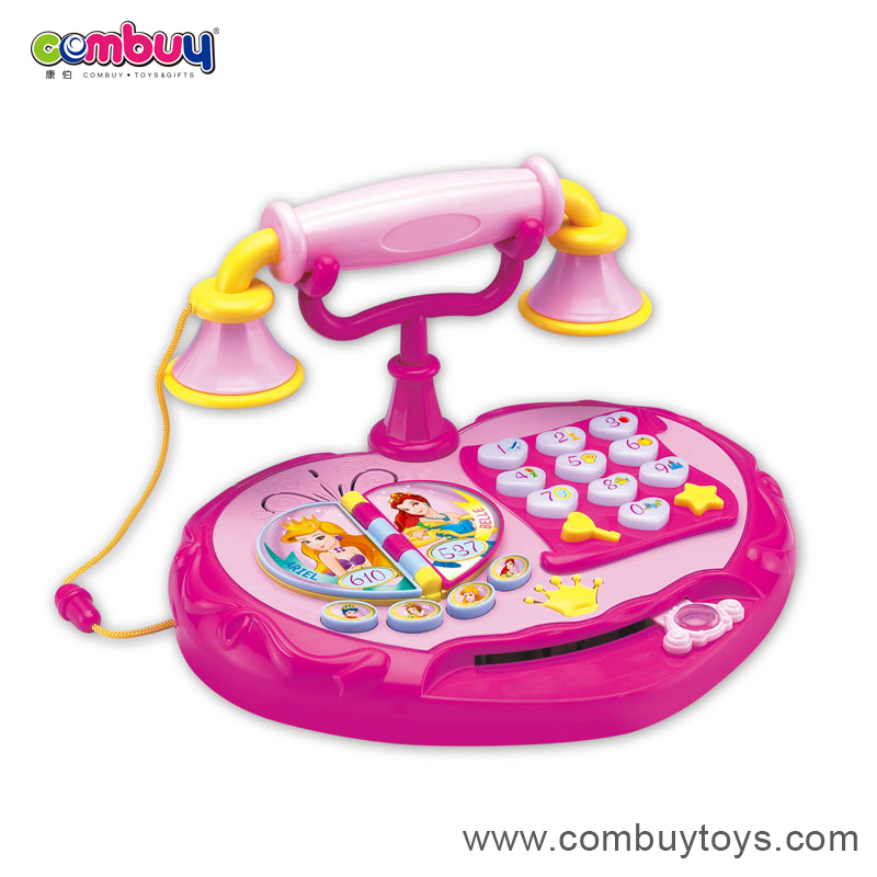 Funny battery operated baby musical cartoon cell phone toys for kids