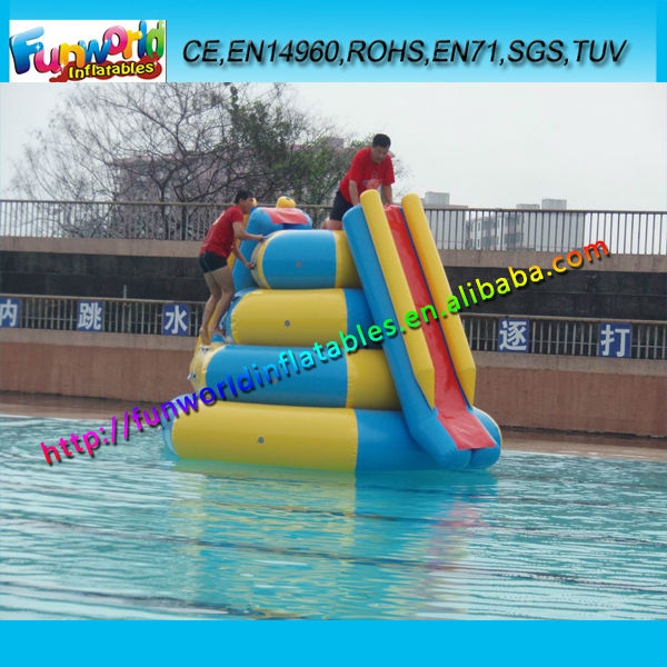 Popular Inflatable Water Climbing Slide,Inflatable Round Hill For Water Park