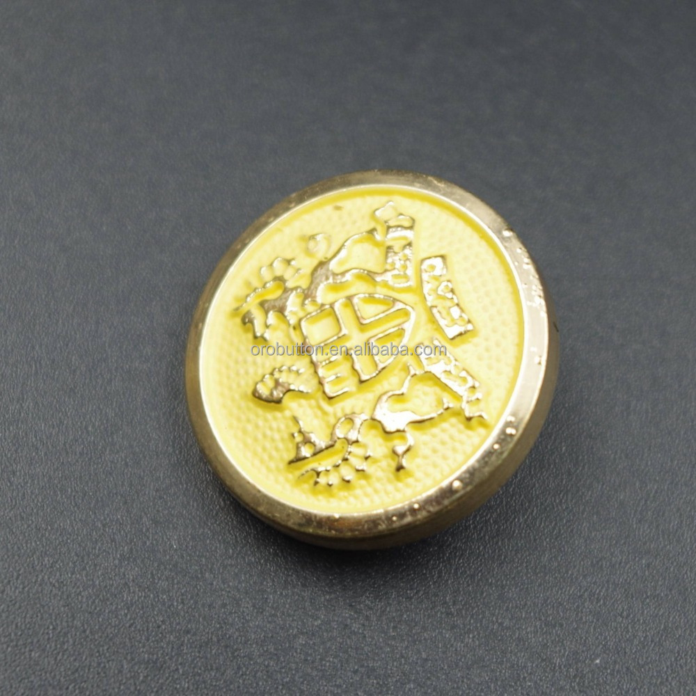 Available in various color gold plastic abs button