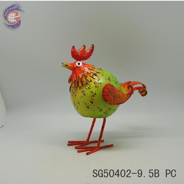 Handicraft Iron Garden Animal Decorations Chicken