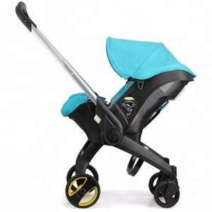 High landscape baby trolley 0-3 years old sitting down and folded two-way portable baby stroller