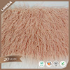 China Wholesale Solid Mongolian Plush Fabric Shaggy Curly Faux Fur Fabric