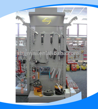 Adjustable hook metal display racks for tools