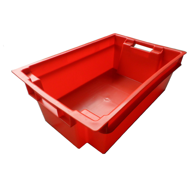 600*400*200mm stack and nest tomato storage plastic crate supplier in Guangzhou
