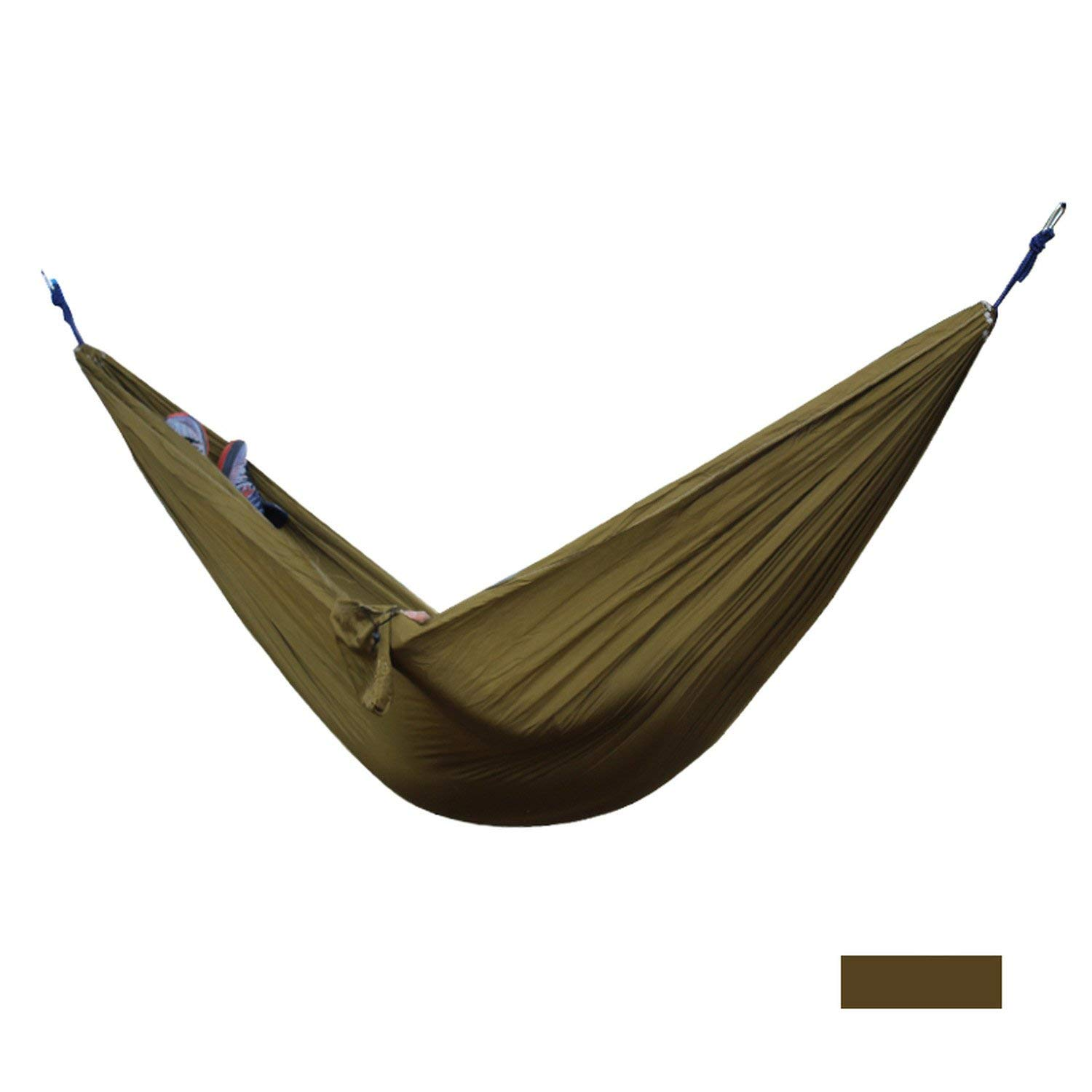 Mandaartins 24 Color 2 People Portable Parachute Hammock Camping Survival Garden Flyknit Hunting Leisure Hamac Travel Double Person Hamak,camel