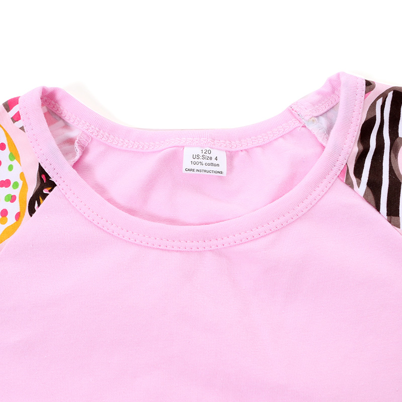 2017 Fashion Children's Top   Pink  Flying Sleeve Boutique girls Tops