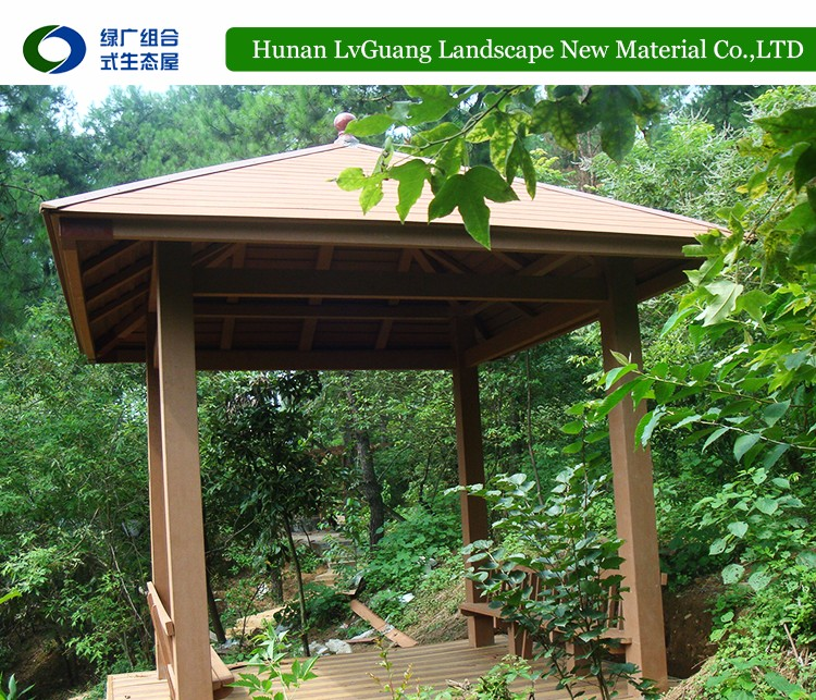 China manufacturer the latest modern wooden outdoor gazebo