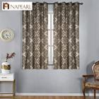 NAPEARL short jacquard kitchen curtains floral pattern
