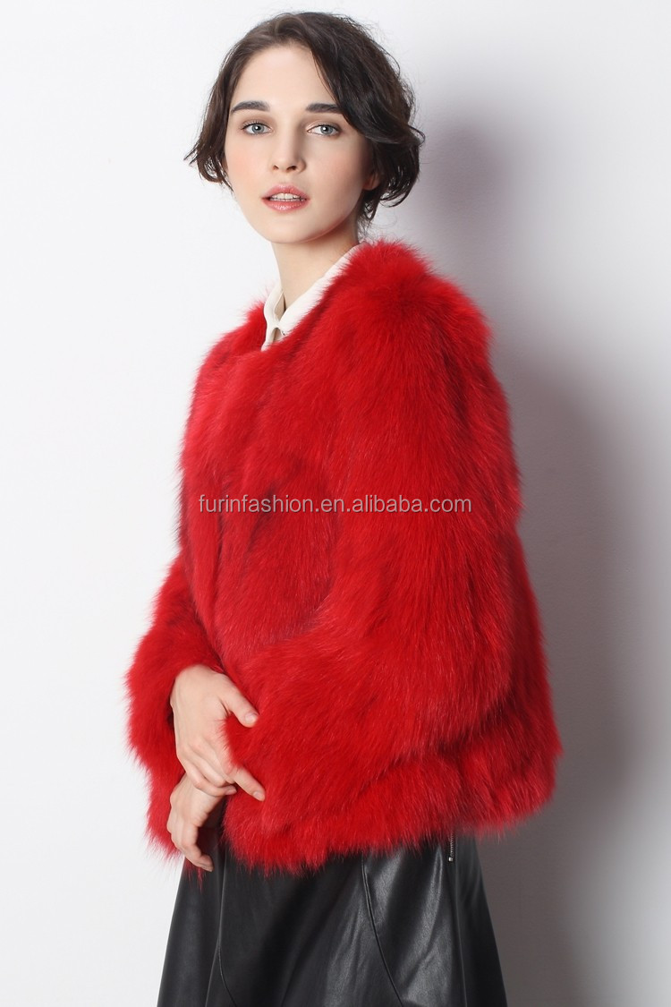 0a6822df02 Short Style High Quality Red Fox Fur Coat For Luxurious Women - Buy ...