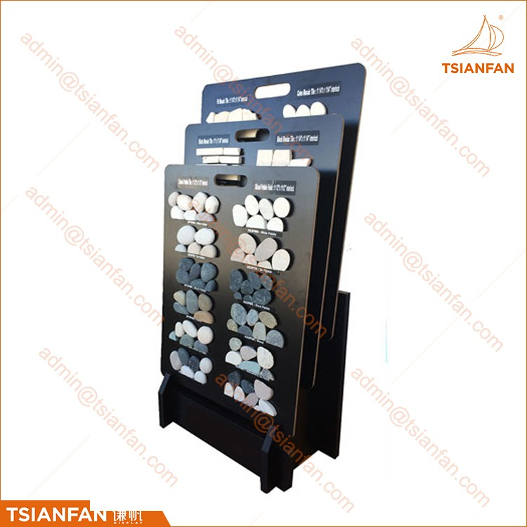 Custom Showroom Sliding Metal Shelves Display Rack for Ceramic Tile and Porcelain Tile