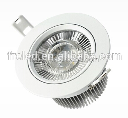 furuier Driverless 10w cob dimmable recessed led ceiling downlight head moveable