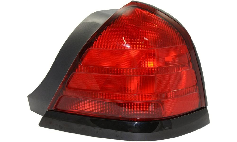Evan-Fischer EVA15672012677 Tail Light for Ford Crown Victoria 00-11 RH Lens and Housing Dual Bulb Type W/ Black Molding Right Side Replaces Partslink# FO2801160