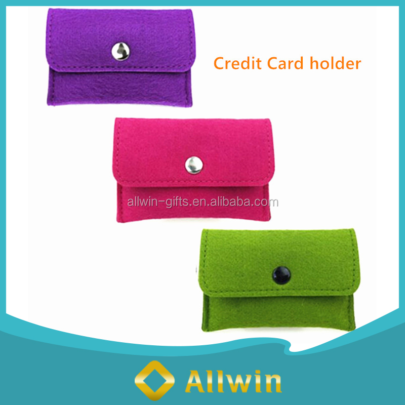 Pormotional felt magnetic cell phone credit card holder wholesale
