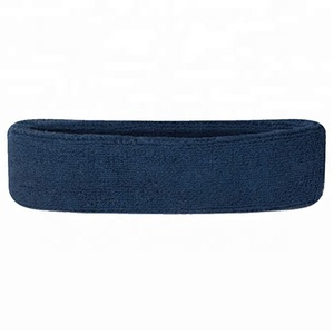 High Quality Terry Towel Sport Headband/Head Band With Embroidery Logo