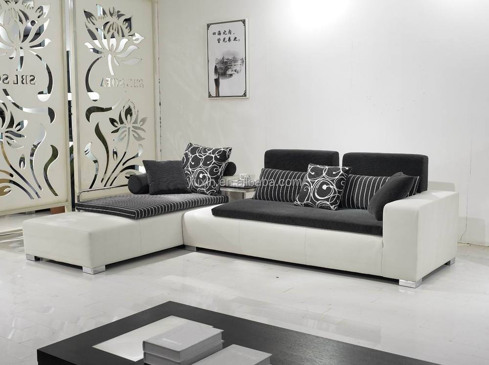 Egypt Modern Design Fabric Sofa Furniture White Corner Chaise
