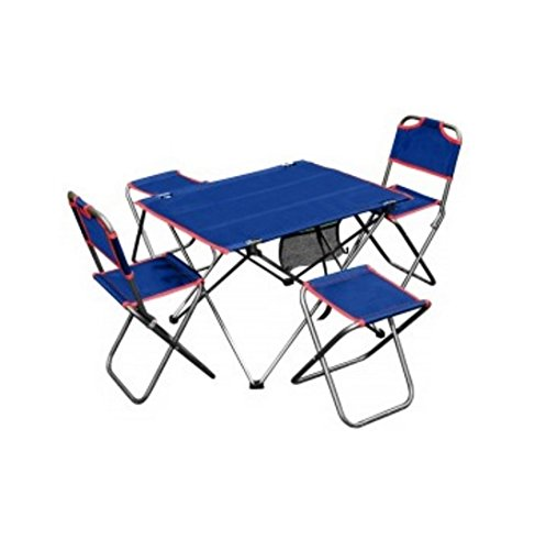 Camping Table Set Outdoor Folding 5 Piece Dining – 4 Chairs And Table Perfect For Camping, Hiking, On the Beach, Backyard With Quick And Easy Set Up