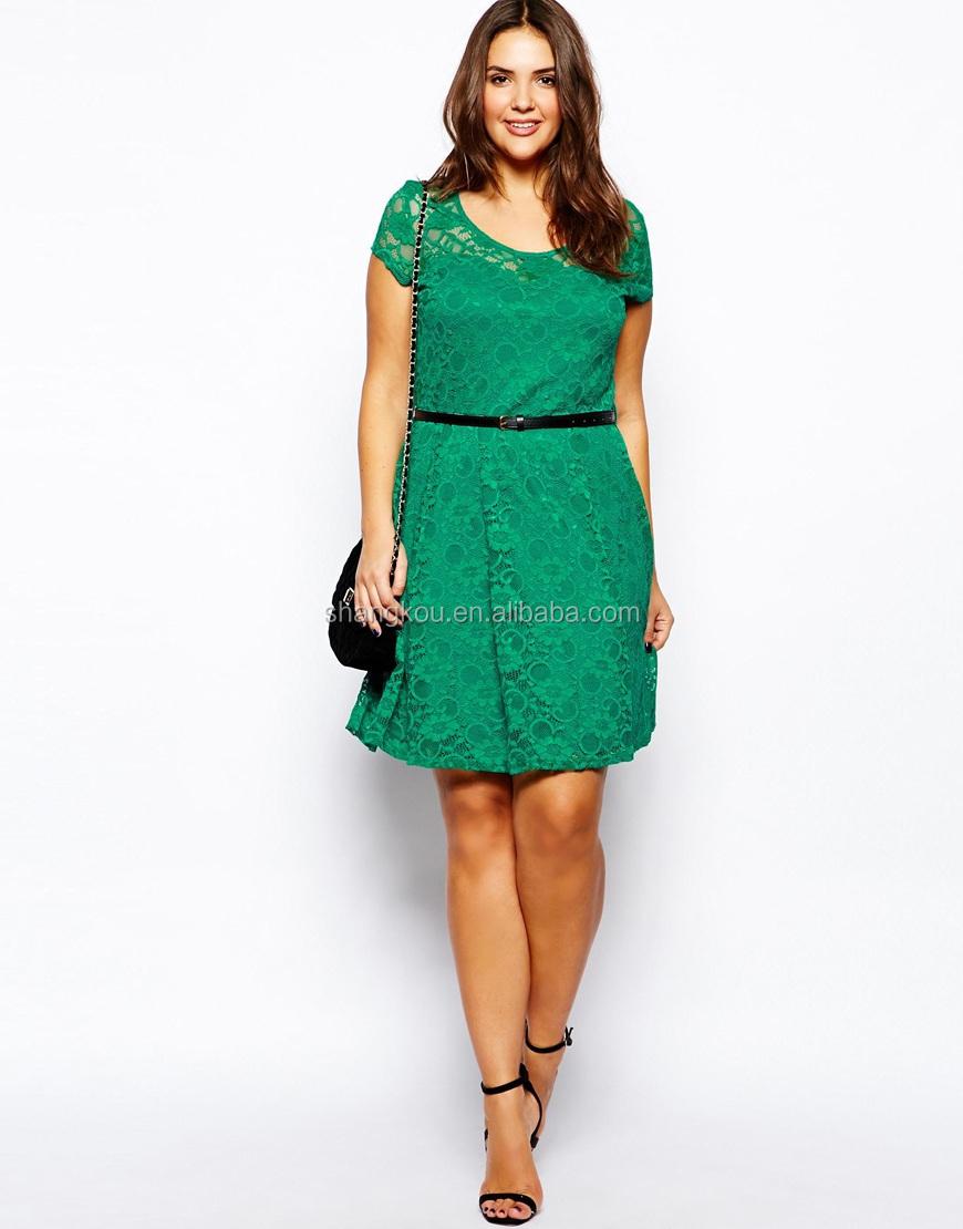 China Wholesale Woman Clothing Plus Size Dress Fashion Dress ...