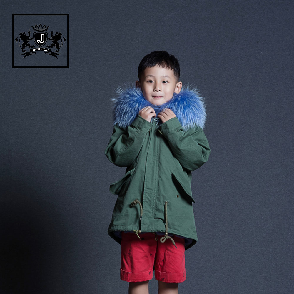Solid Color Children Clothing Girl Tops Big Girls Winter Coat With Fur Collar Winter Parka Children Large Fur Hooded Down Jacket Packing Of Nominated Brand Mother & Kids