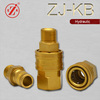 ZJ-KB high flow rate male thread brass pressure water quick coupler